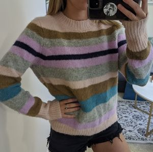 J Crew Point Sur Alpaca Crewneck Sweater In Stripe